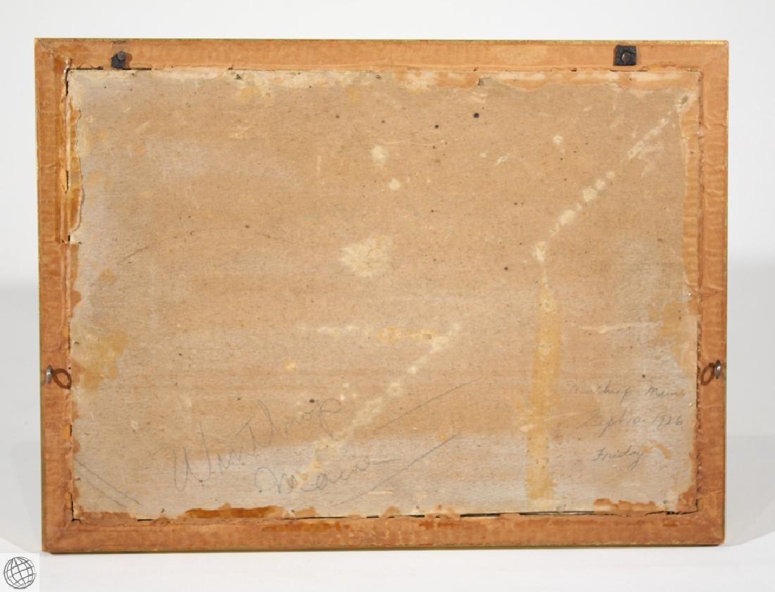 Winthrop Maine F.L. ROBINSON 1926 Original Oil Board - 6