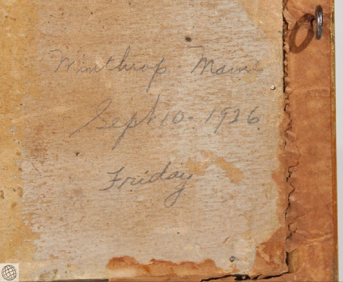 Winthrop Maine F.L. ROBINSON 1926 Original Oil Board - 8