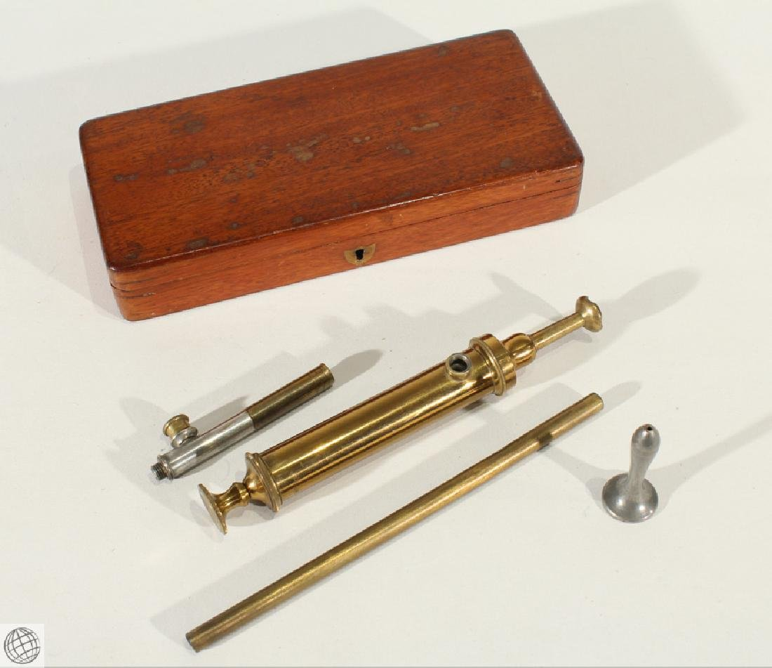 Authentic Gastric Enema Syringe Kit CIVIL WAR MEDICAL
