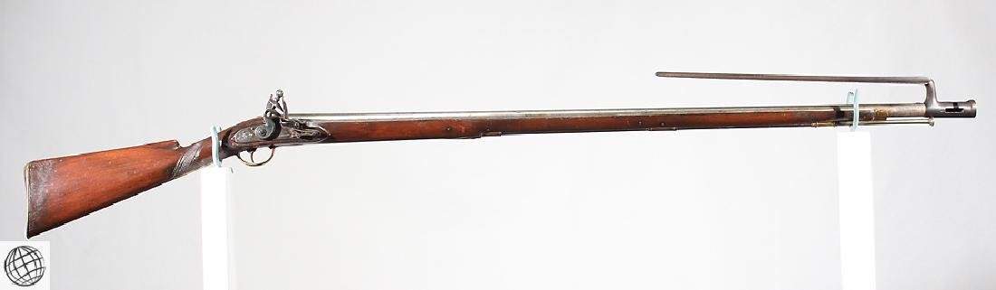 New England Type MILITIA MUSKET Golcher Marked Lock