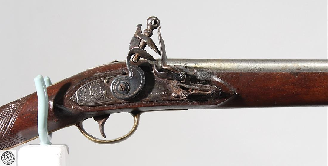 New England Type MILITIA MUSKET Golcher Marked Lock - 3