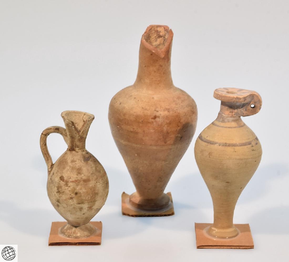 10Pcs Alabastrons Lekythos ANCIENT GRECO-ROMAN POTTERY - 10