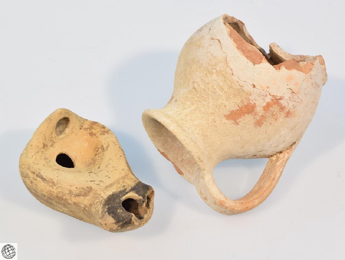 10Pcs Alabastrons Lekythos ANCIENT GRECO-ROMAN POTTERY - 7