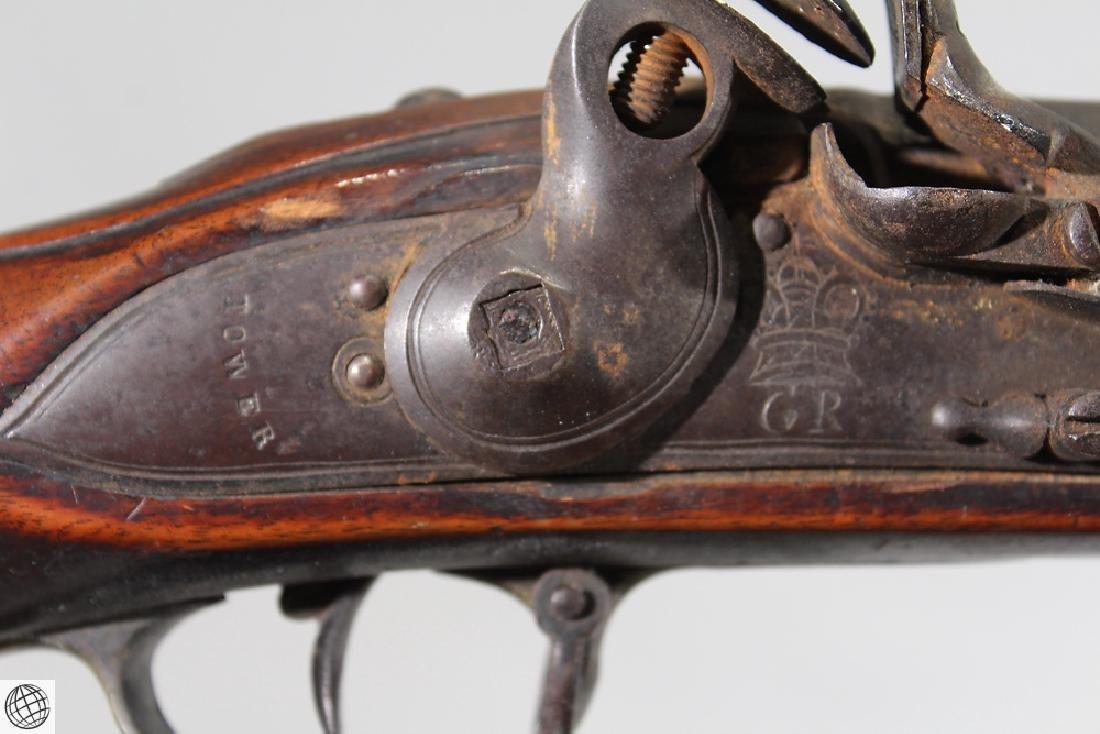 """British Third Model FLINTLOCK BROWN BESS 39"""" Bbl Liege - 4"""