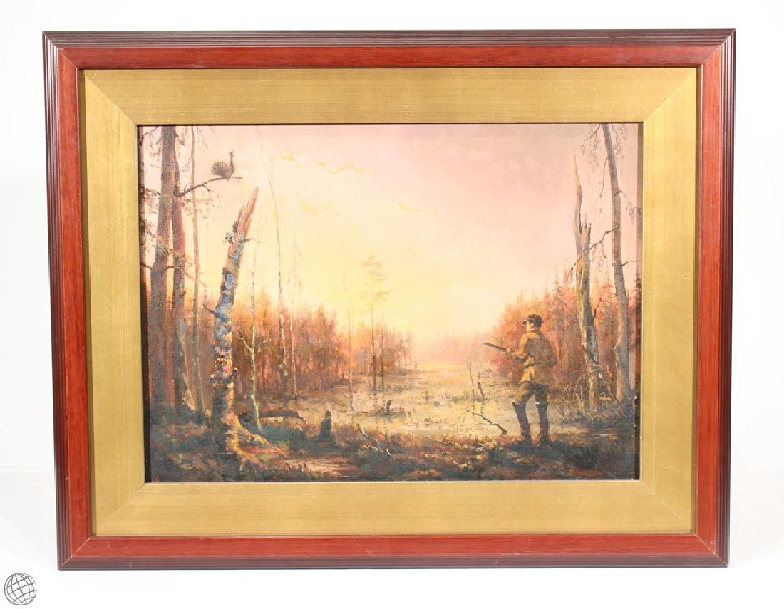 Baumbeg King Verne Shilton ANTIQUE LANDSCAPE OIL - 2