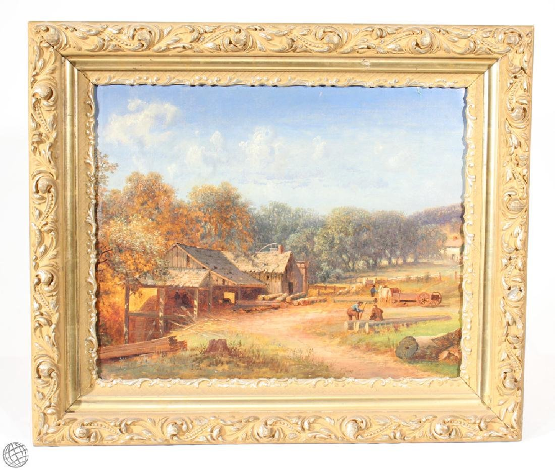 Baumbeg King Verne Shilton ANTIQUE LANDSCAPE OIL - 5