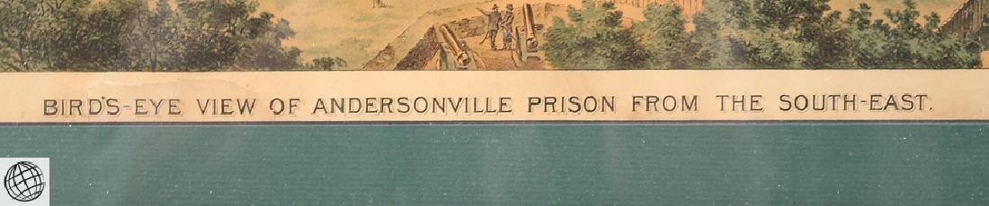 Rare Antique Color Lithograph ANDERSONVILLE PRISON - 5
