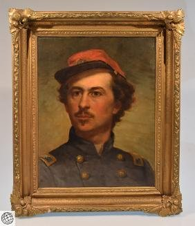 Oil Board Portrait COLONEL ELMER EPHRAIM ELLSWORTH