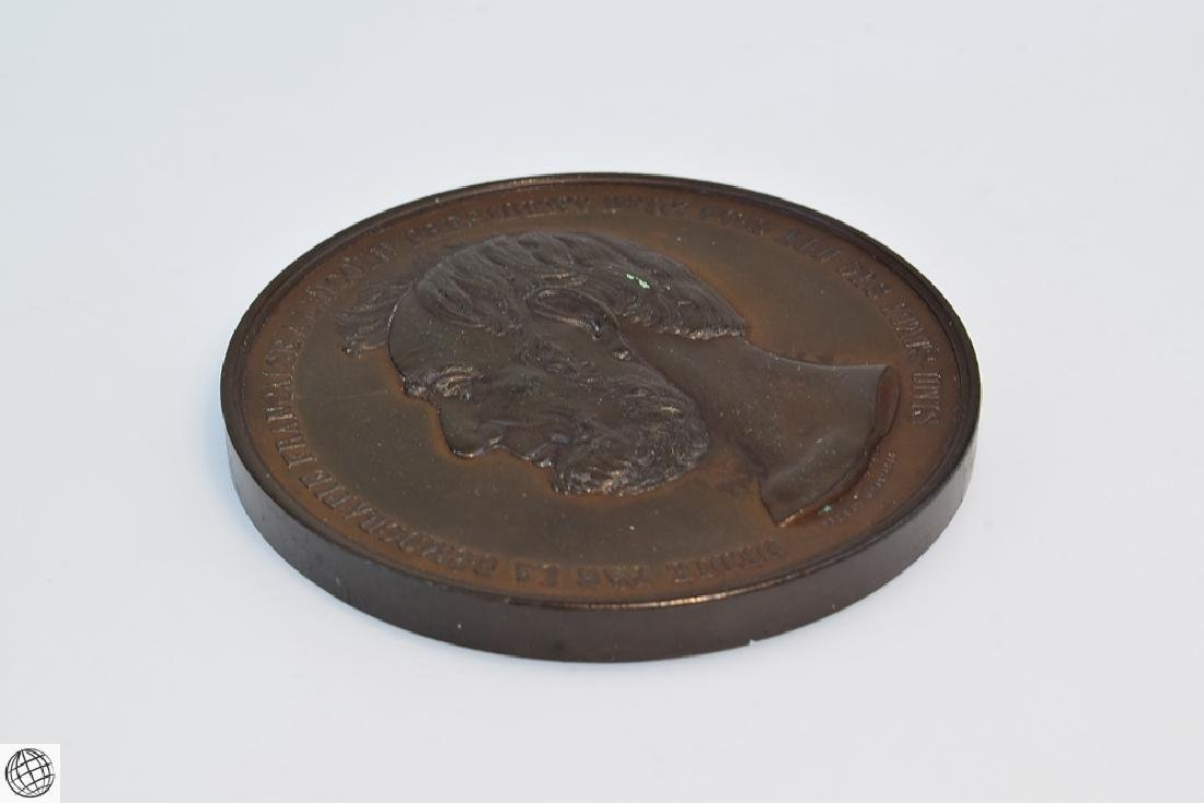 Rare Antique FRENCH SWISS LINCOLN MEDALLION Bronze