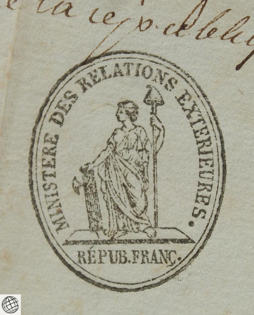 French US Passport SIGNED JAMES MONROE 1796 Minister - 5