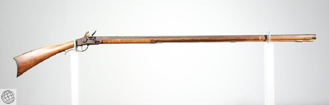 American KENTUCKY LONG RIFLE Flintlock Carved