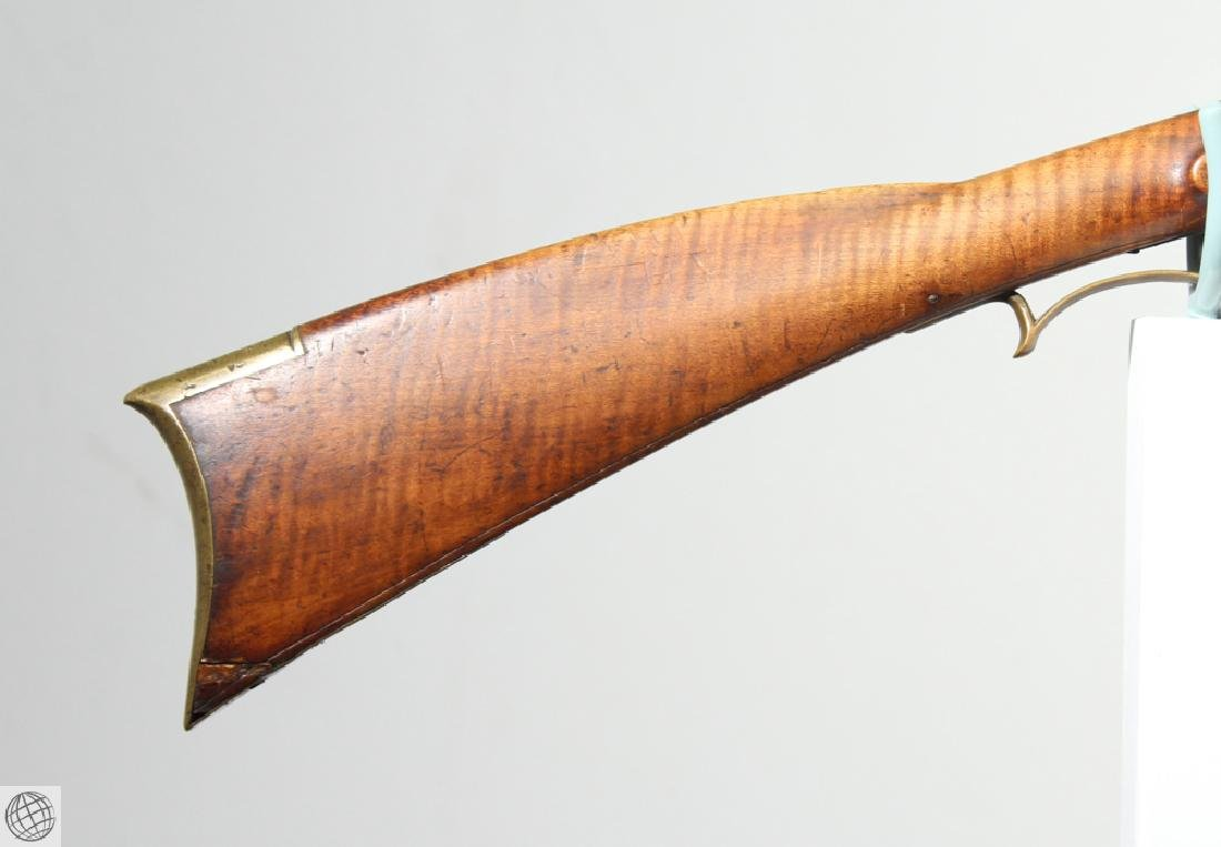 American KENTUCKY LONG RIFLE Flintlock Carved - 2