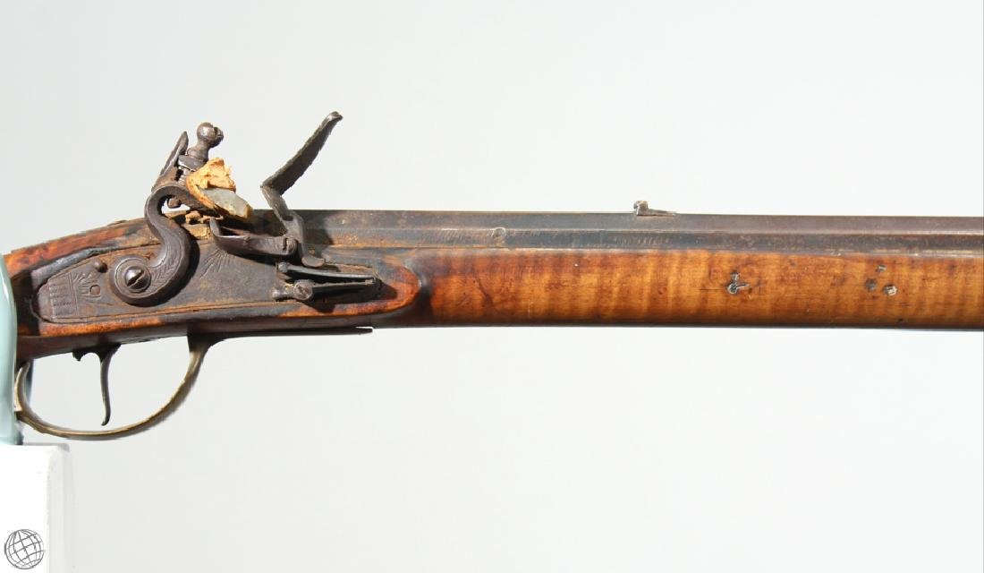American KENTUCKY LONG RIFLE Flintlock Carved - 3