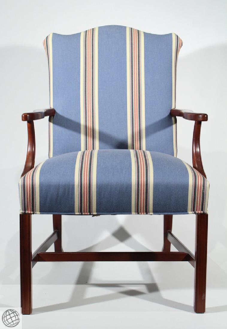 Stickley UPHOLSTERED MAHOGANY CHAIR Occasional Chair