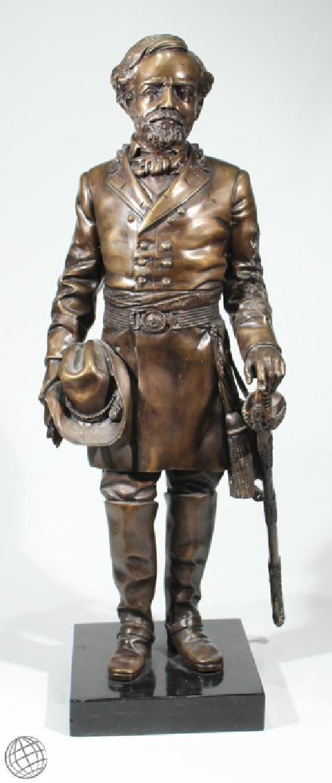 Civil War Confederacy ROBERT E LEE BRONZE STATUE 39