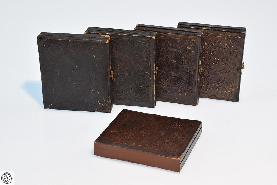 5Pcs Antique 19th Century UNION CASES WITH SOLDIER
