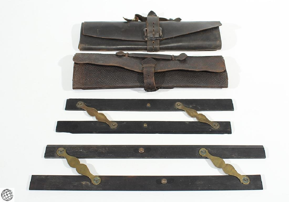 4Pcs Antique Drafting Tools Accessories PARALLEL RULERS