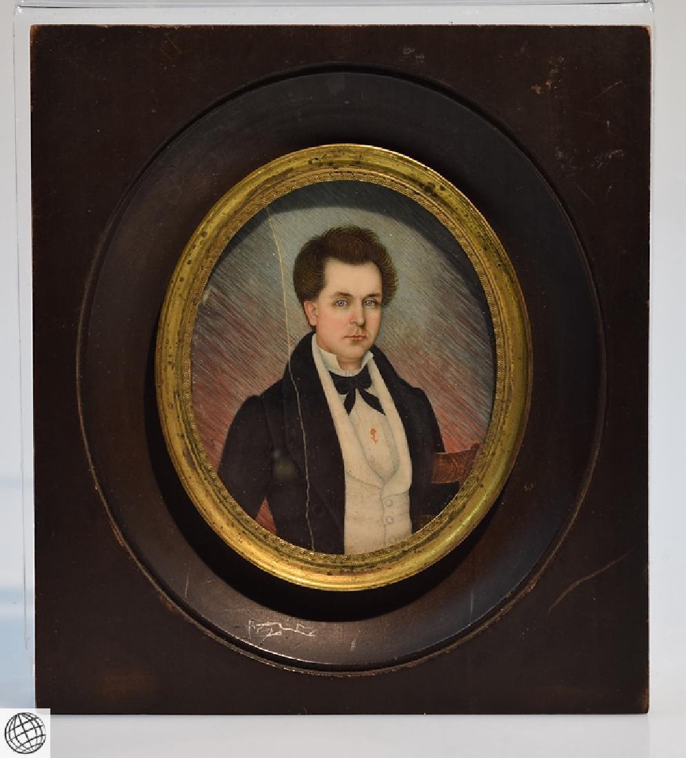 D J Watkins ORIGINAL SIGNED CAMEO PORTRAIT OF GENTLEMAN