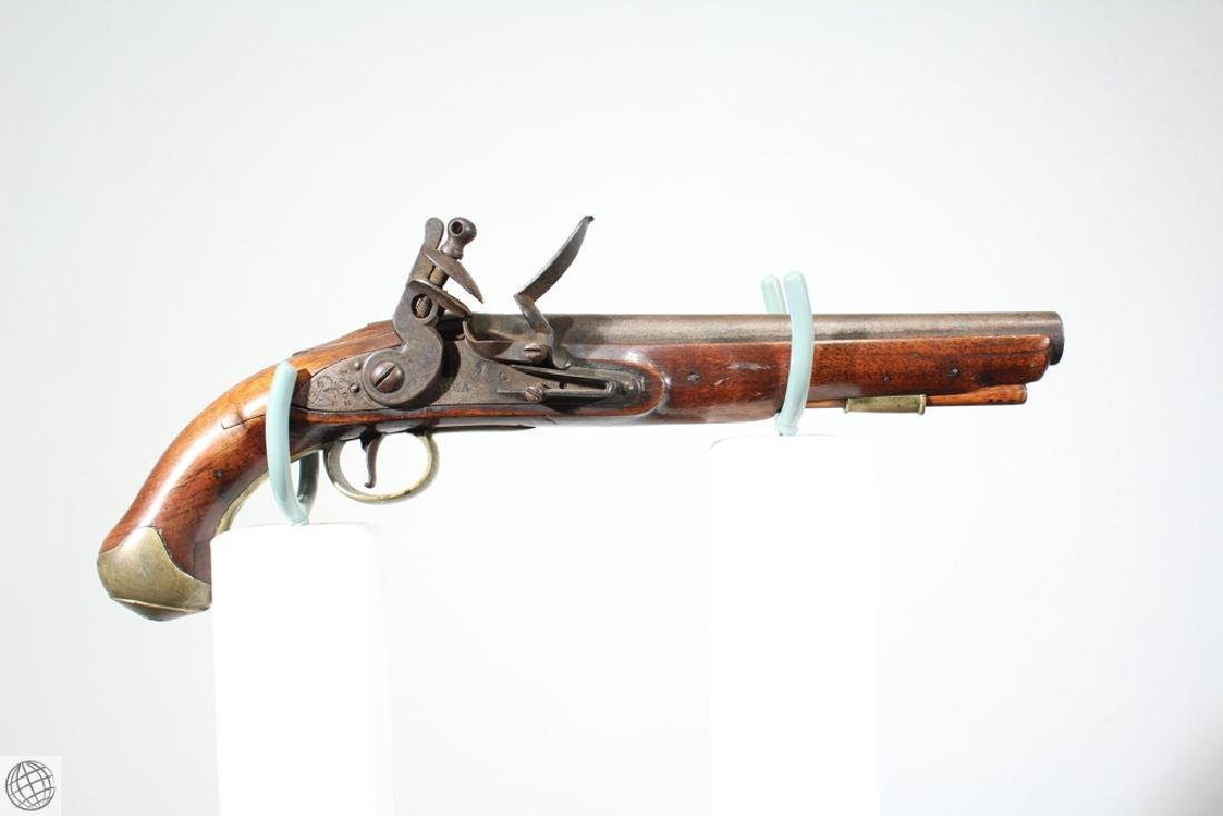 East India Company FLINTLOCK PISTOL Rea Marked 1802 9""