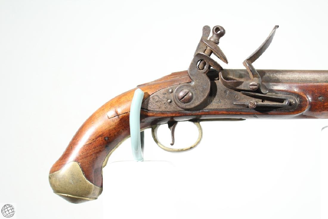 "East India Company FLINTLOCK PISTOL Rea Marked 1802 9"" - 2"