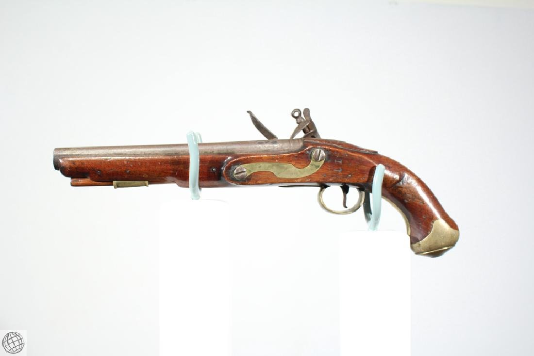 "East India Company FLINTLOCK PISTOL Rea Marked 1802 9"" - 6"