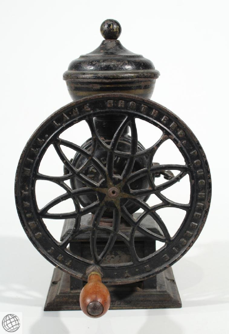 1875 Antique LANE BROTHERS SWIFT MILL COFFEE GRINDER - 3