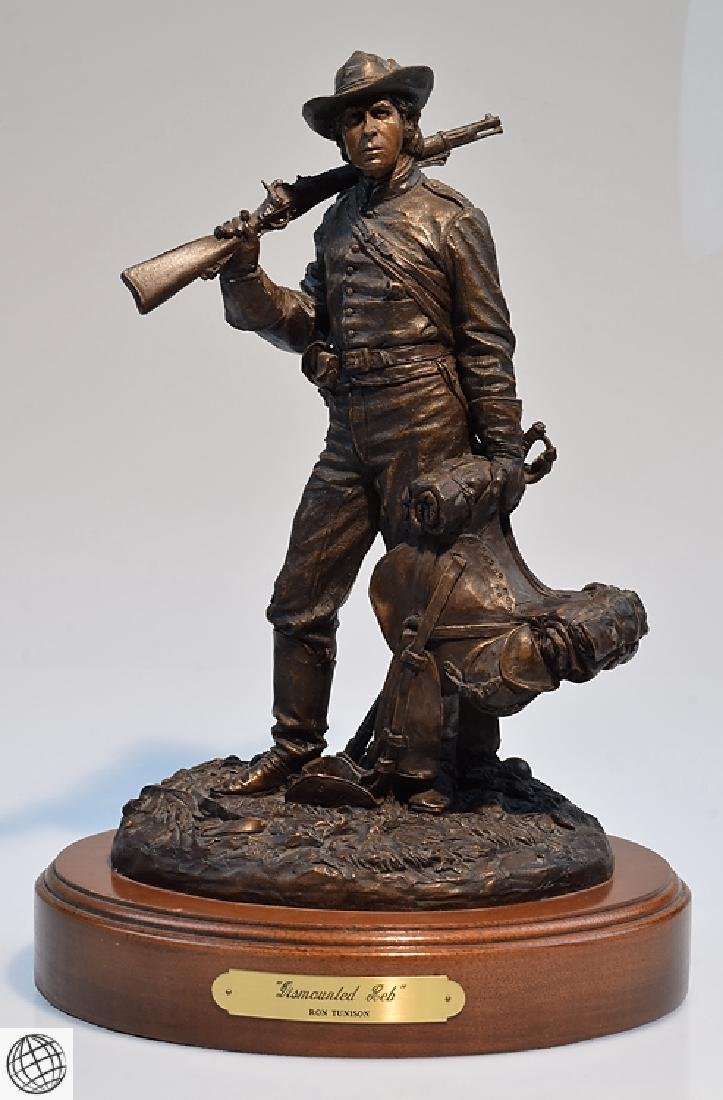 Dismounted Reb COLD CAST BRONZE CIVIL WAR SCULPTURE BY