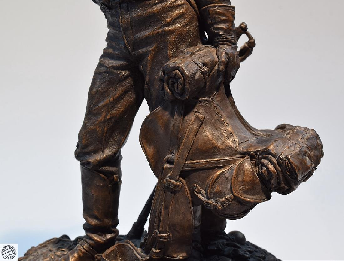 Dismounted Reb COLD CAST BRONZE CIVIL WAR SCULPTURE BY - 3