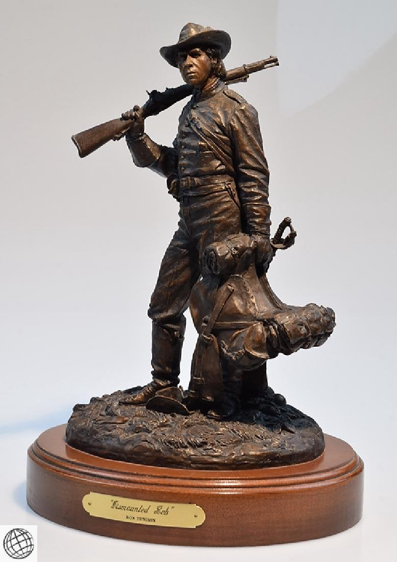 Dismounted Reb COLD CAST BRONZE CIVIL WAR SCULPTURE BY - 5