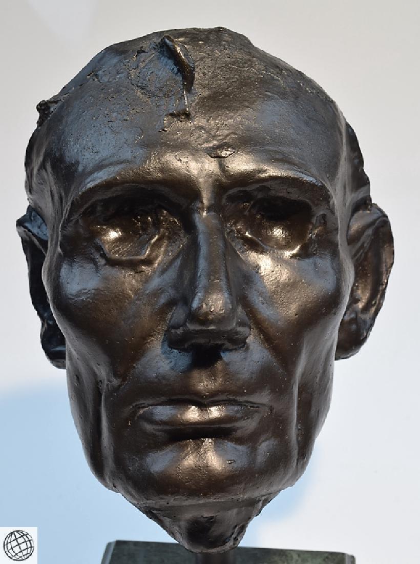 Abraham Lincoln LIFE MASK MOUNTED MARBLE BASE Civil War - 2