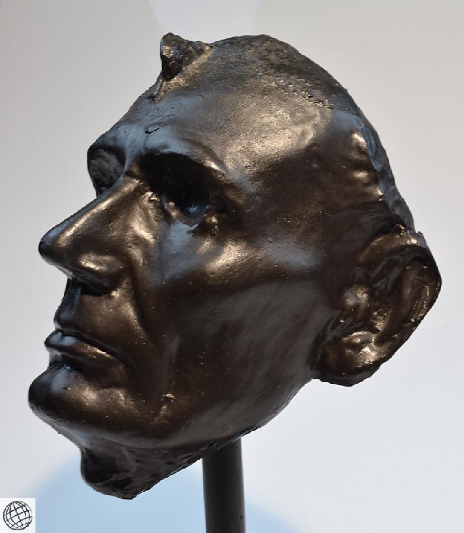 Abraham Lincoln LIFE MASK MOUNTED MARBLE BASE Civil War - 3