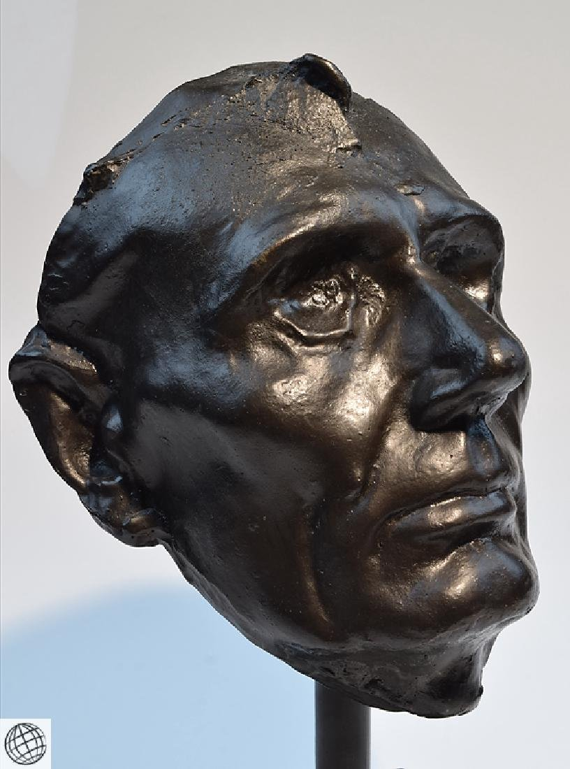 Abraham Lincoln LIFE MASK MOUNTED MARBLE BASE Civil War - 4