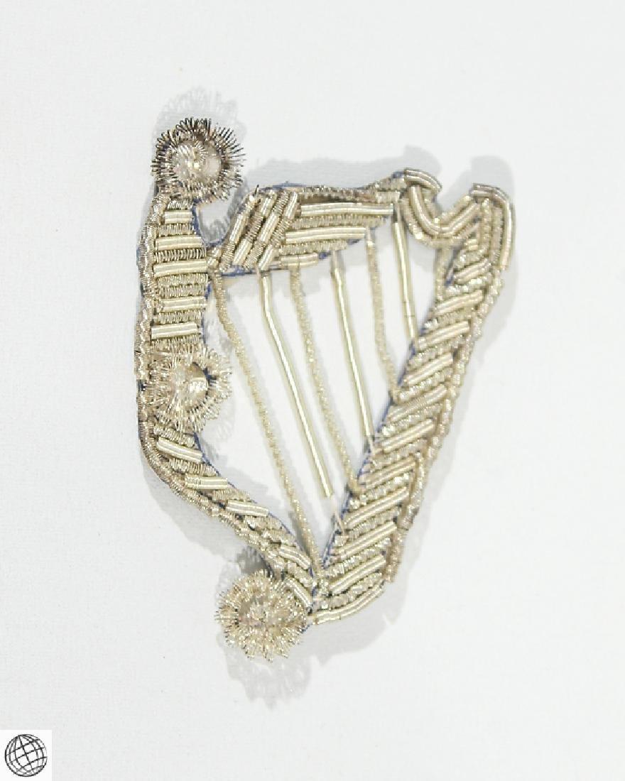 Very Rare Antique Civil War IRISH HARP INSIGNIA