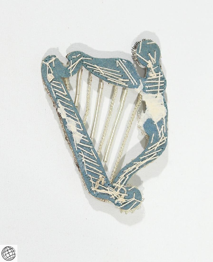 Very Rare Antique Civil War IRISH HARP INSIGNIA - 2