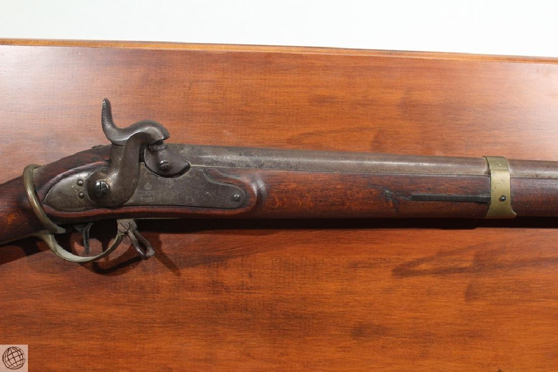 Danzig PERCUSSION MUSKET Dated 1837 Mounted On Board - 6