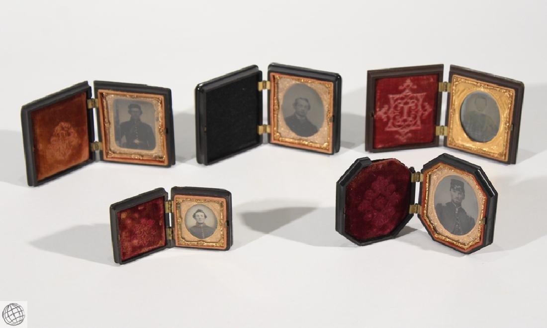 5Pcs Antique 19th Century THERMOPLASTIC UNION CASES