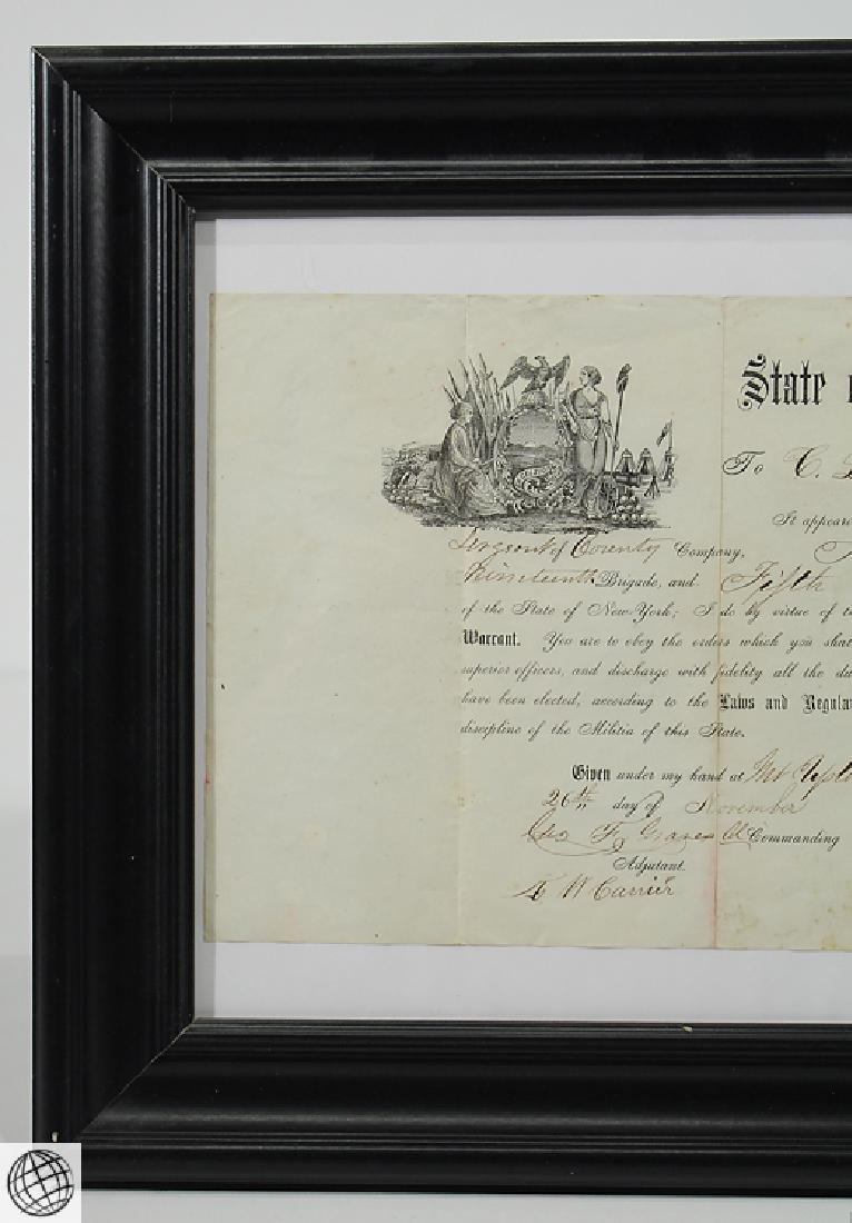Antique Civil War Document MILITARY COMMISSION Officer - 2