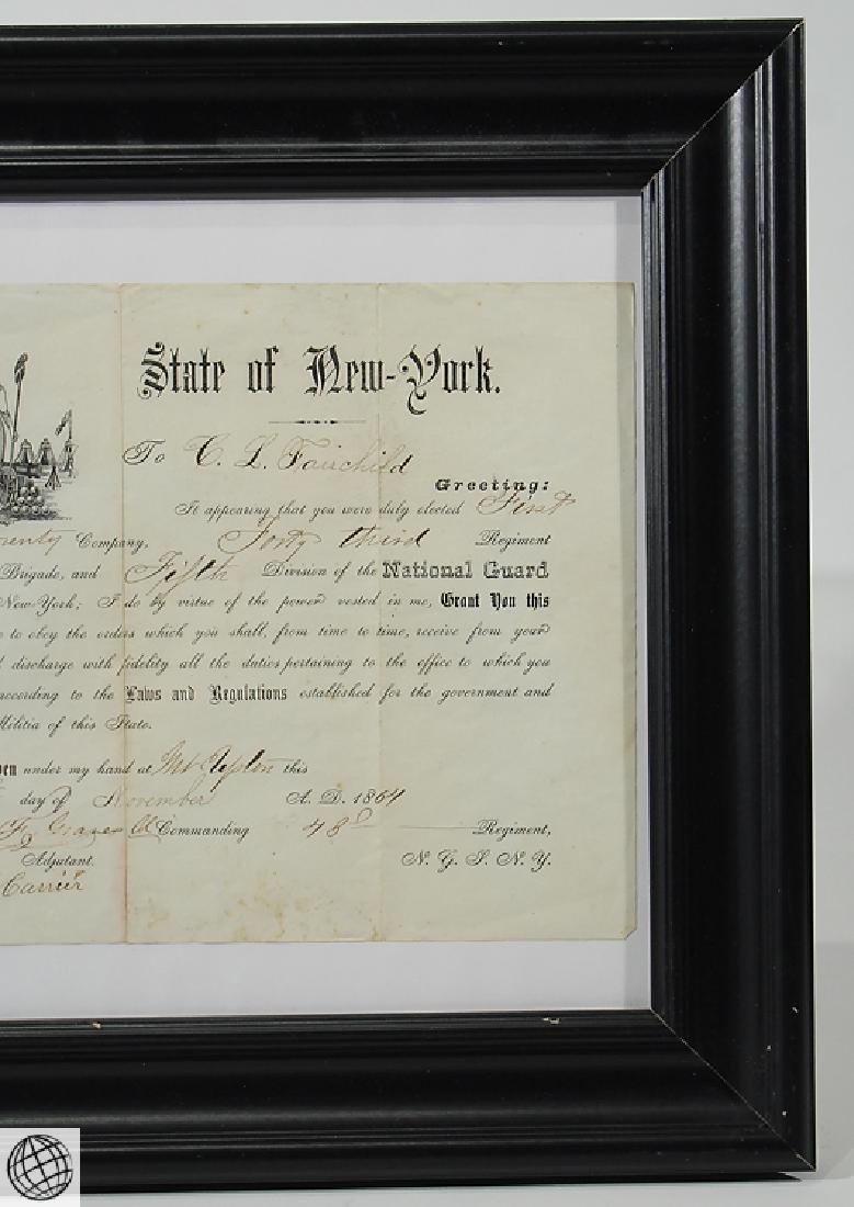 Antique Civil War Document MILITARY COMMISSION Officer - 3