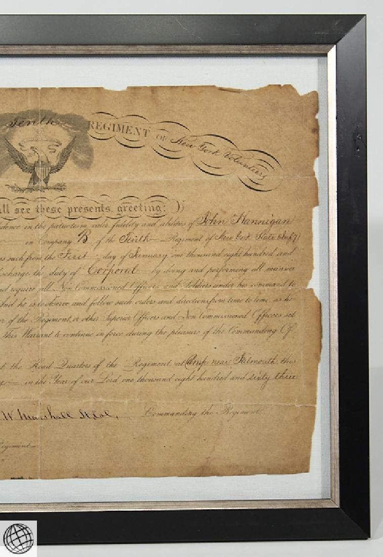 Antique Civil War Document MILITARY COMMISSION Officer - 3