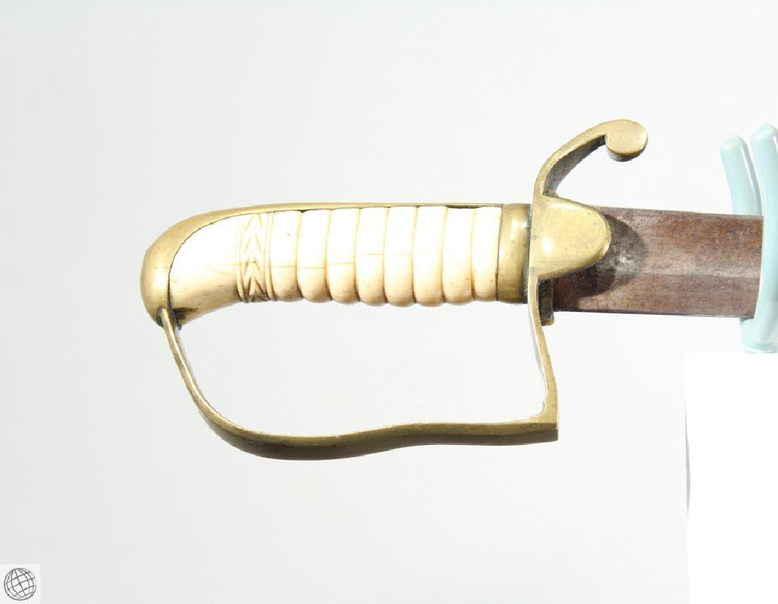 US MILITIA SWORD Brass Scabbard Bone Hilt Original - 7