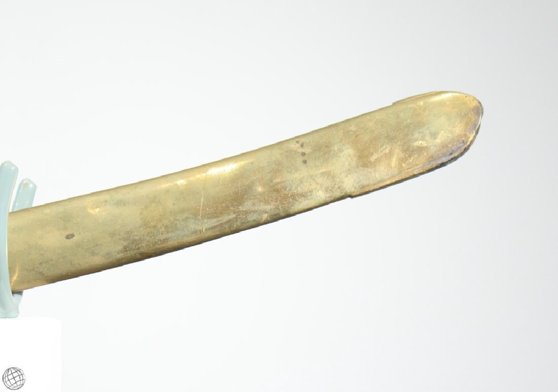US MILITIA SWORD Brass Scabbard Bone Hilt Original - 3