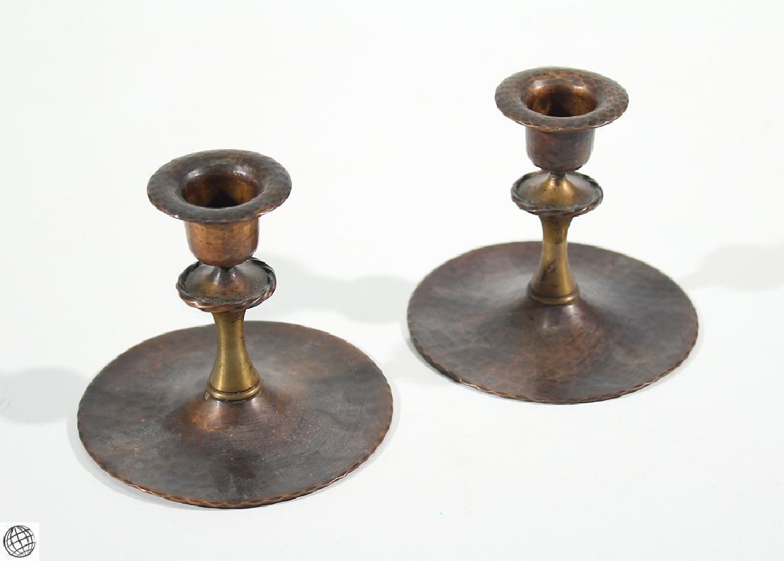 7Pcs Antique Collectible ROYCROFT ASHTRAYS CANDLESTICKS - 4