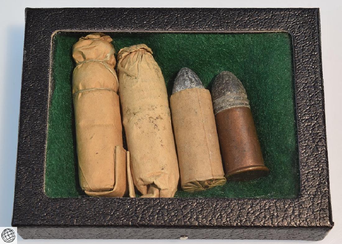 4Pcs Antique 19th Century CIVIL WAR BULLET CARTRIDGES - 2