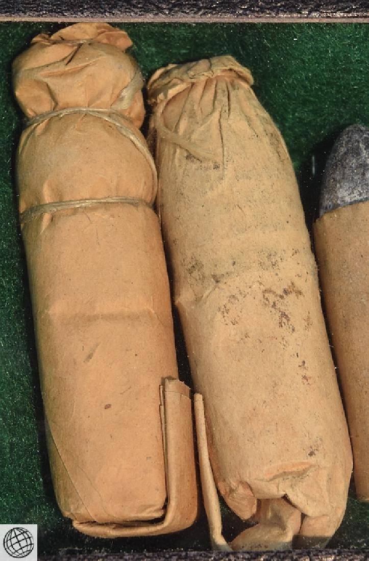 4Pcs Antique 19th Century CIVIL WAR BULLET CARTRIDGES - 3
