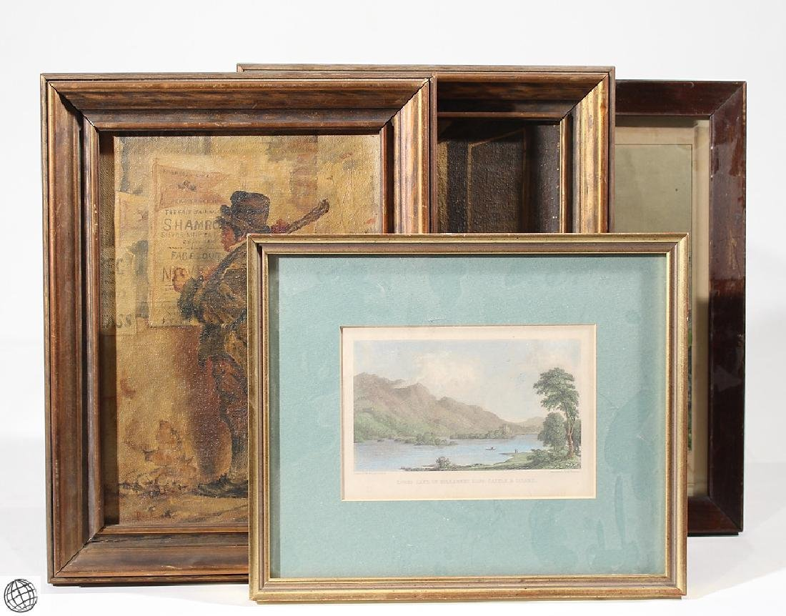 4Pcs Currier & Ives L. Buck Nicol ANTIQUE IRELAND ART