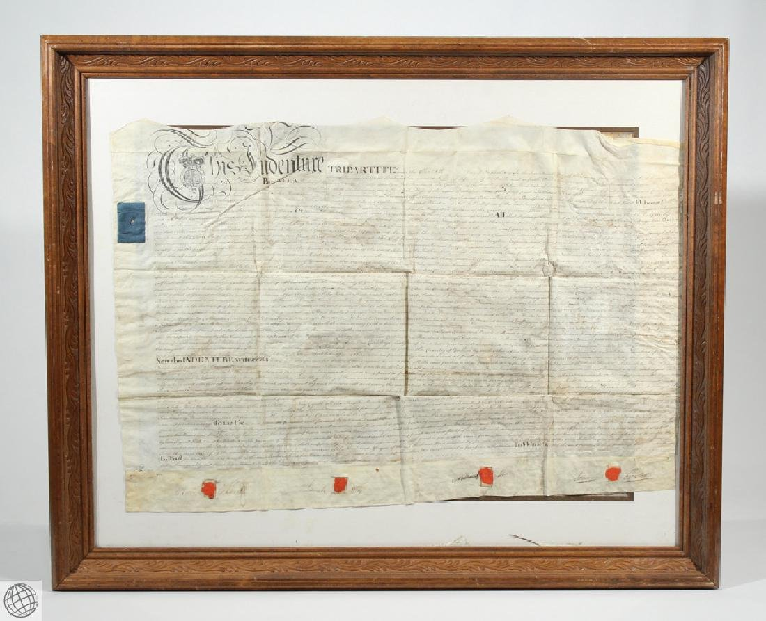 Hand Calligraphed VELLUM INDENTURE 1777 George III