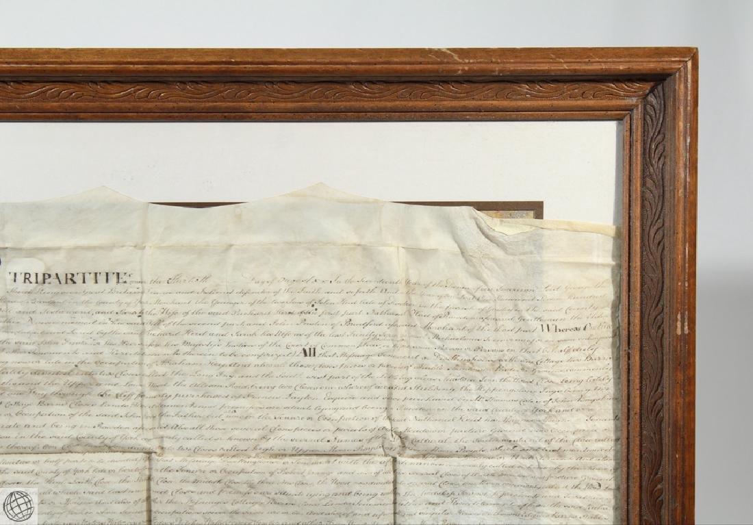 Hand Calligraphed VELLUM INDENTURE 1777 George III - 3