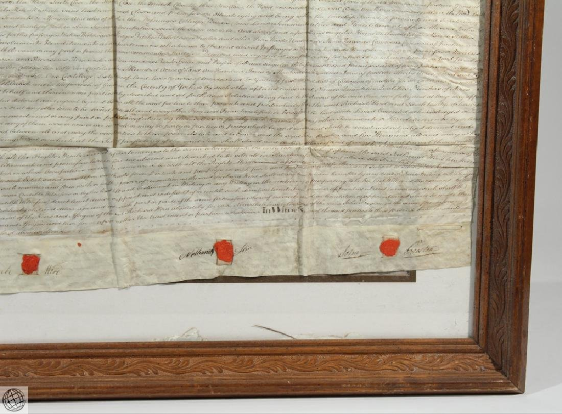 Hand Calligraphed VELLUM INDENTURE 1777 George III - 4