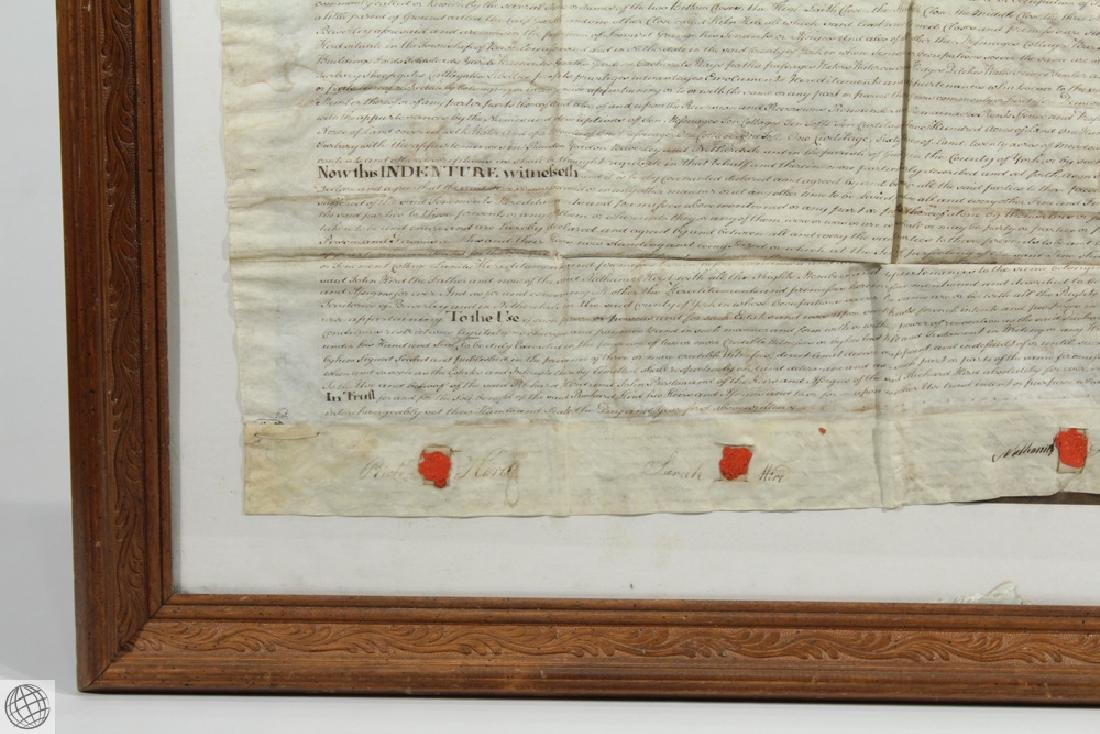 Hand Calligraphed VELLUM INDENTURE 1777 George III - 5
