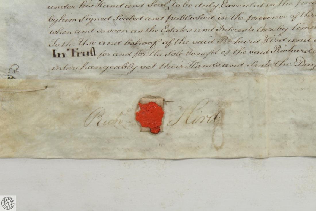 Hand Calligraphed VELLUM INDENTURE 1777 George III - 6